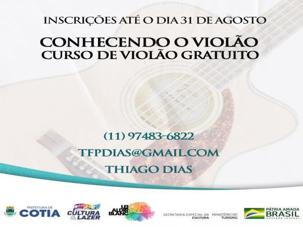Entre 11 e 31/08: Inscrições abertas para o Projeto 'Conhecendo o Violão'