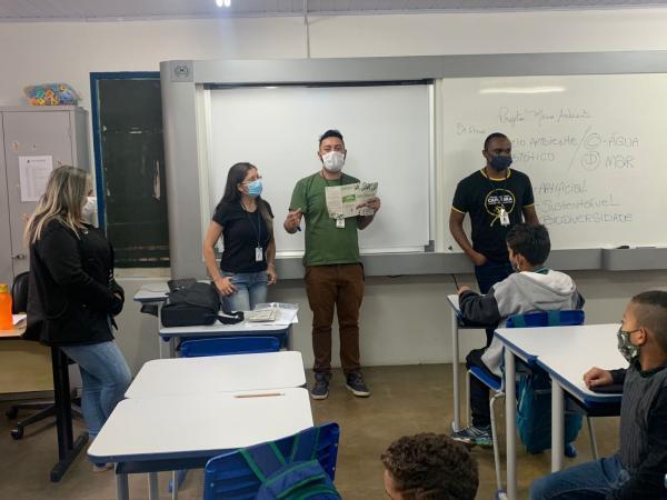 Cotia retoma aulas do Projeto Guardião Ambiental Mirim na EM Vicentina Pires de Oliveira