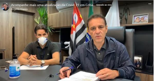 Live com Prefeito de Cotia Rogério Franco em 19/5