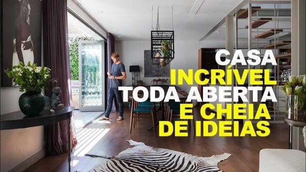CASA TODA ABERTA INCRÍVEL E CHEIA DE IDEIAS BOAS DE DECORAÇÃO